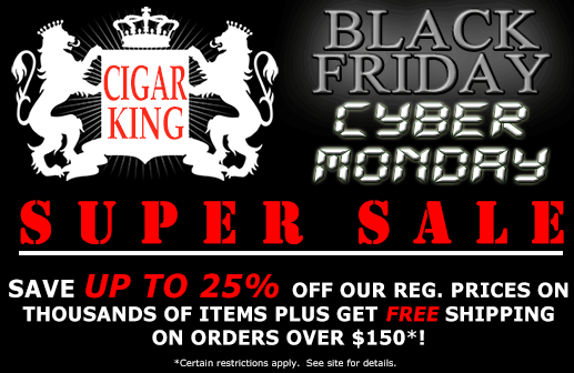 Cigar King Black Friday 2012 - Save up to 25%