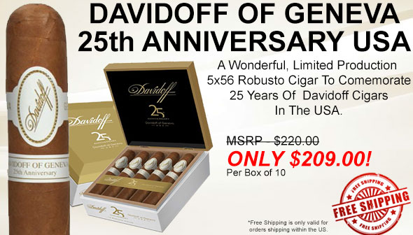 Davidoff of Geneva 25th Anniversary USA