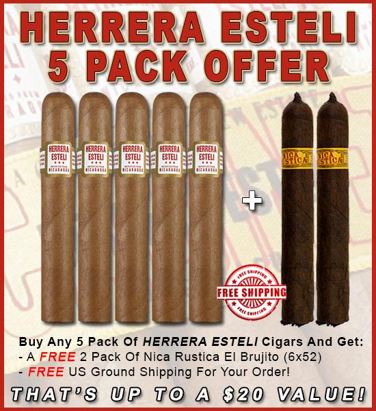 Herrera Esteli 5 Pack Promo