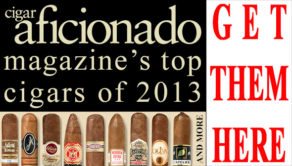 Cigar Aficionado Magazine's Top Cigars of 2013