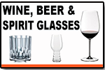 Wine, Beer, And Spirit Glasses
